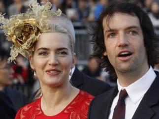 Kate Winslet y su marido Ned Rocknroll