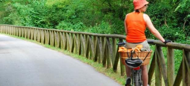 Vía verde en bicicleta