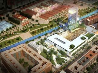 Recreación del hotel de Madrid Río.