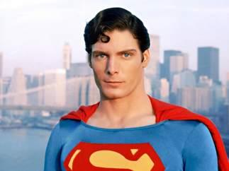 Christopher Reeve en el papel de Superman.