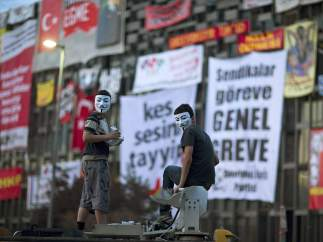 Manifestantes en Estambul