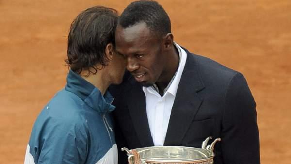 Rafa Nadal y Usain Bolt