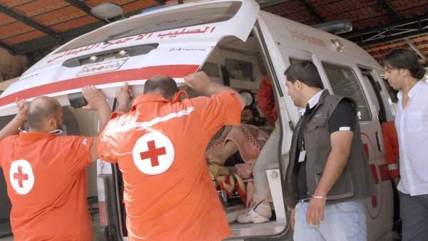 Evacuados sirios de Al Qusair