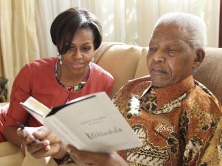 Michelle Obama visita a Mandela