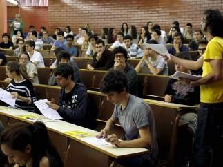 Una de las aulas de la Facultad de Biología de la Universidad de Barcelona