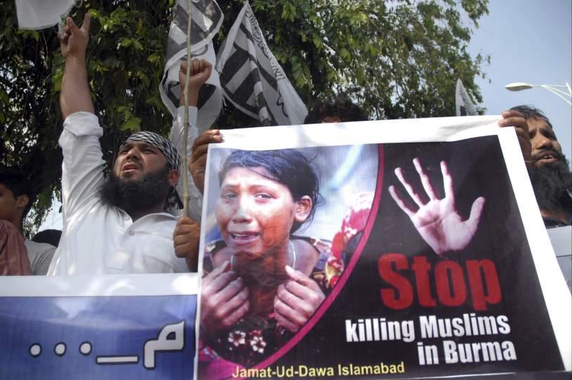 Protesta por la violencia contra los musulmanes