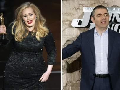 Adele y Rowan Atkinson