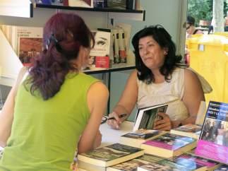 Almudena Grandes en la Feria del Libro