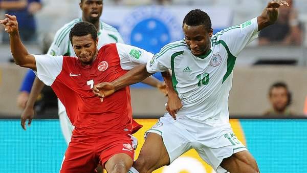 Encuentro entre Tahití y Nigeria en la Copa Confederaciones
