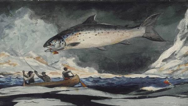 'A Good Pool, Saguenay River', 1895