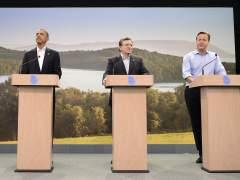 Obama, Barroso, Cameron y Van Rompuy