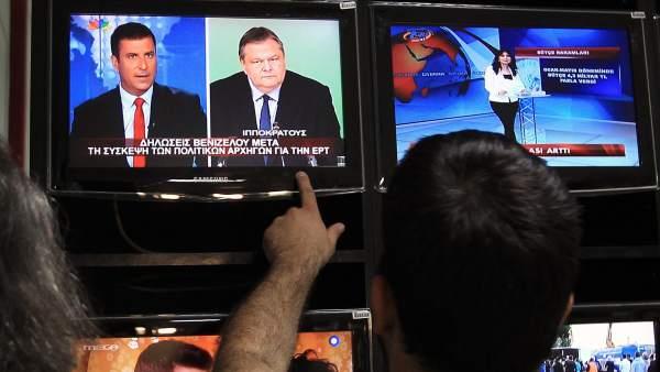 Televisión griega