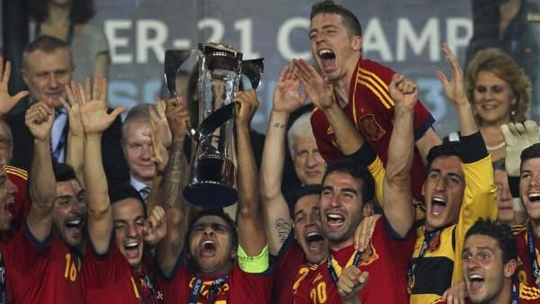 La selección española sub-21 gana su segundo Europeo consecutivo