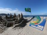 Esculturas de arena en las playas de Río