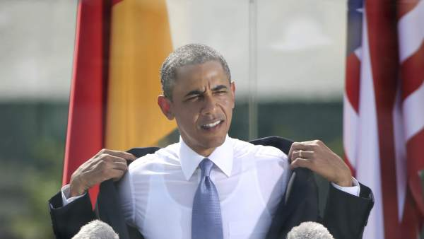 Imagen de Barack Obama en Berlín.