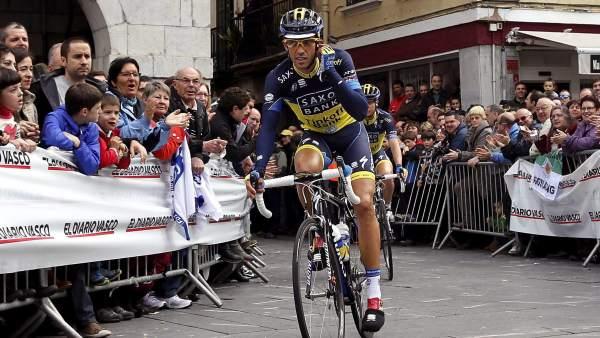 Alberto Contador, durante la Vuelta al País Vasco 2013