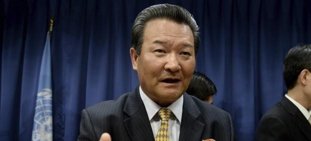 El embajador norcoreano ante la ONU