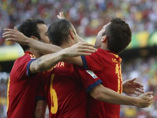 Alba celebra el gol