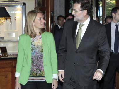 Arantza Quiroga y Mariano Rajoy