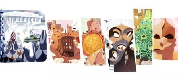 Gaudí, protagonista del Doodle de este martes con motivo de su 161 aniversario