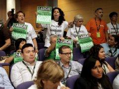 Protestas en la junta de accionistas de Bankia