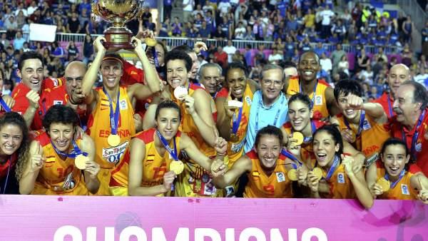 La selección femenina de baloncesto, campeona de Europa 2013