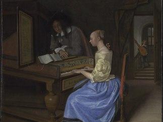 'A Young Woman playing a Harpsichord to a Young Man'