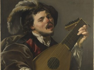 'A Man playing a Lute'