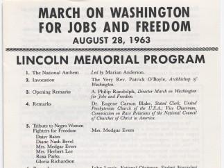 Lincoln Memorial Program, 28 de agosto de 1963