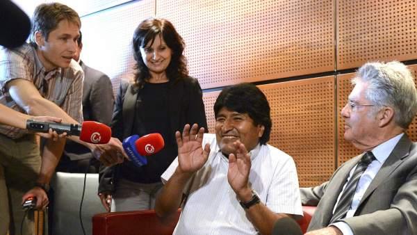 Aterrizaje forzoso de Morales