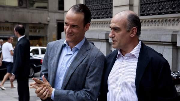 Francesc Orella y Daniel Grao en la miniserie de Mario Conde