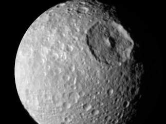 Mimas, satélite de Saturno.