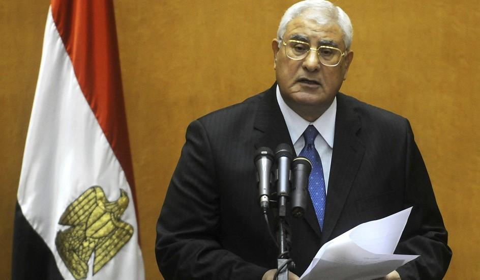 El nuevo presidente interino de Egipto, Adli Mansur, jura su cargo - 20minutos.es