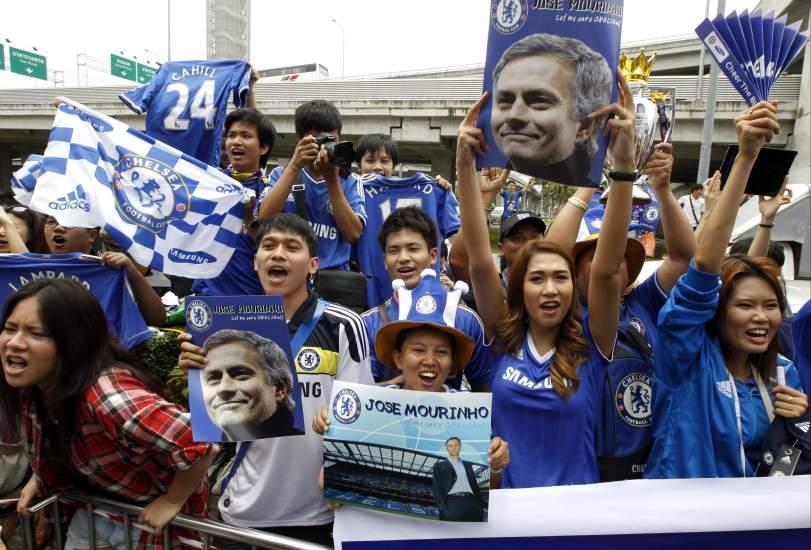 Pasión por el Chelsea en Tailandia