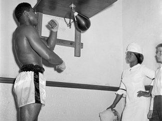 'Muhammad Ali training at Earl's Court', London 1966