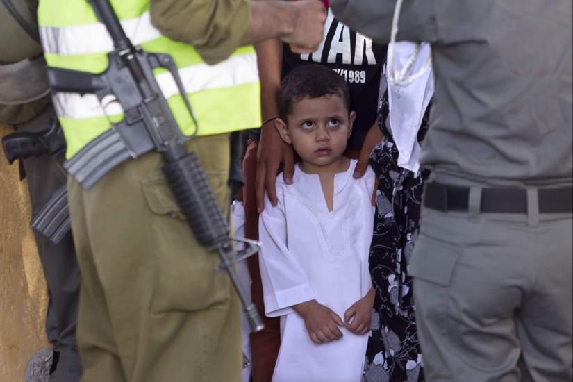 Control en la frontera de Cisjordania
