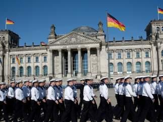 Soldados alemanes en el Reichstag