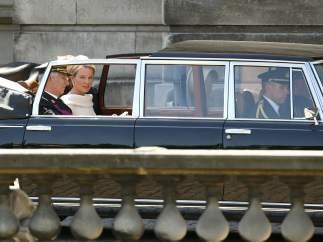 Llegada al Palacio Real