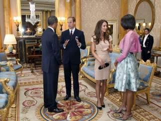 Con el presidente Obama y Michelle