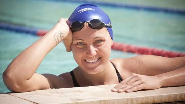 La nadadora Melani Costa