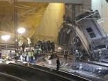 Zona del accidente ferroviario en Santiago