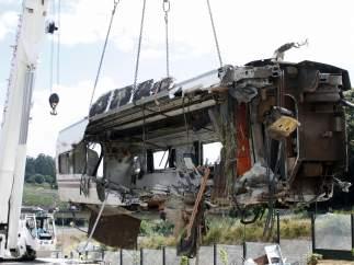 Uno de los vagones del tren Alvia