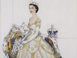 'Her Majesty The Queen in her Coronation Dress', 1953