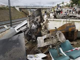 Los restos del tren