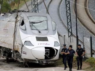Locomotora del tren Alvia accidentado