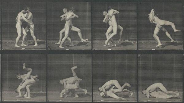 'Lutte de deux hommes nus', 1887