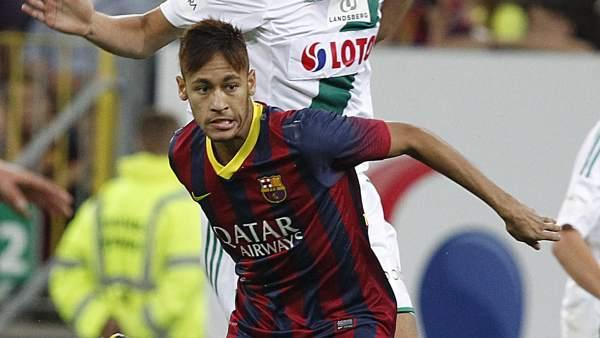 Neymar se estrena en el Barça