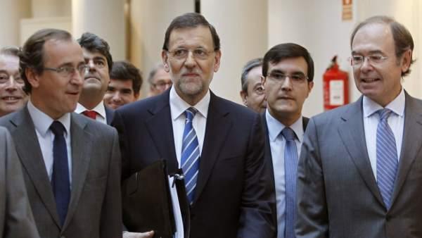 Rajoy llega al pleno