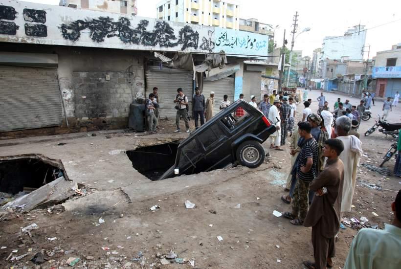 Explosión de una bomba en Pakistán