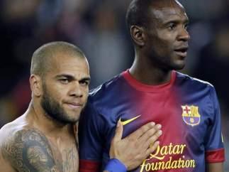 Alves y Abidal